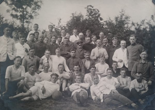 german prisoner football team group photo